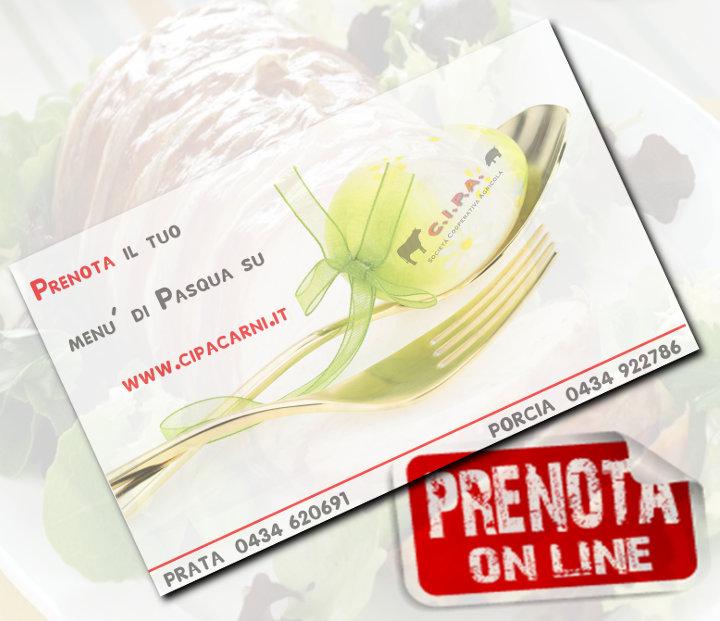 Prenota on-line il tuo menù.... conviene!